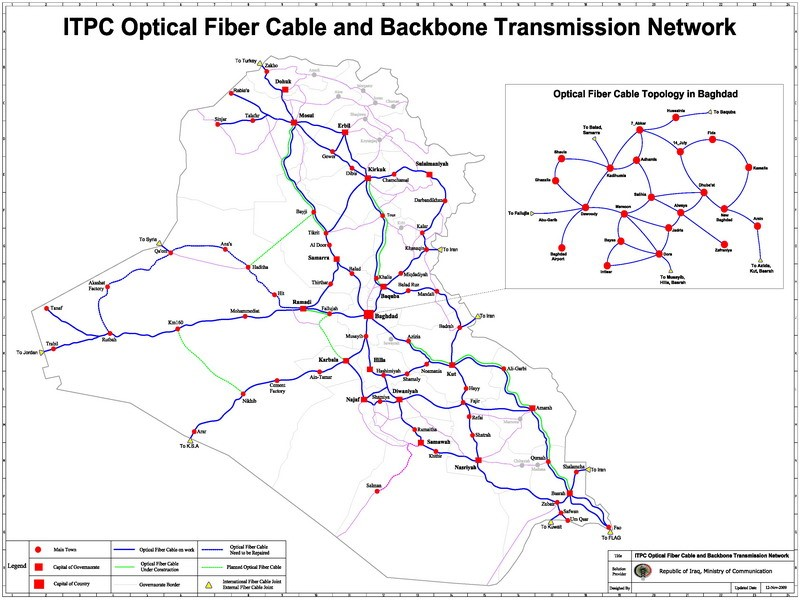 Iraq-internet-route - Vizocom - Satellite Internet, VSAT